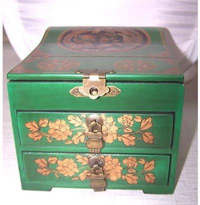 MZO - Caja de Recuerdos Vintage para joyería China, Superficie de Cuero: Amazon.es: Hogar