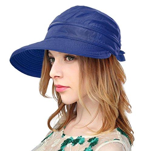 Golf Tennis Visor Cap (Verabella Beach Hat Womens UV Sun Protection Visor Golf Tennis Hat,Dark Blue)