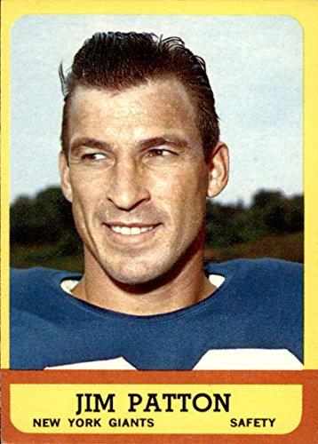 - Football NFL 1963 Topps #58 Jim Patton EX/NM SP NY Giants