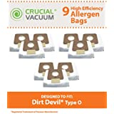 9 Highly Durable Dirt Devil Type O Allergen-Filtering Vacuum Bags; Compare To Part # AD10030, 304235002, 304235001, 3-04235-00, 83-2450-06; Designed & Engineered By Think Crucial