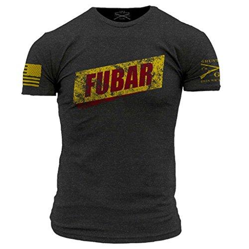 Grunt Style FUBAR Men's T-Shirt, Color Charcoal, Size M
