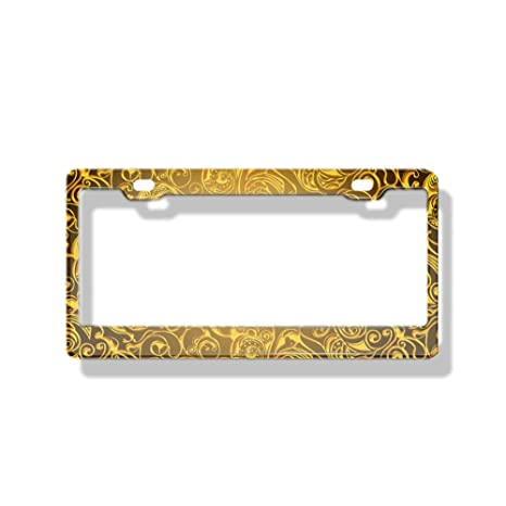 GOLD $$ SIGN LICENSE PLATE BOLTS AUTO TAG ACCESSORIES