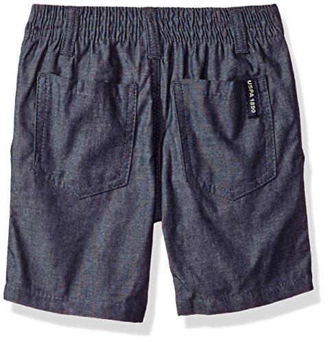 U.S. Polo Assn.. Toddler Boys' Polo Shirt and Short Set, Navy Logo Jade, 4T by U.S. Polo Assn. (Image #2)