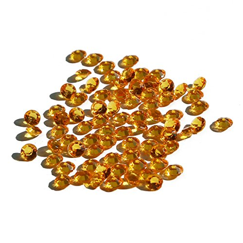 crownroyaljack 2000Pcs 4.5mm Acrylic Diamonds for Wedding Party Table Centerpiece Decorations, Orange