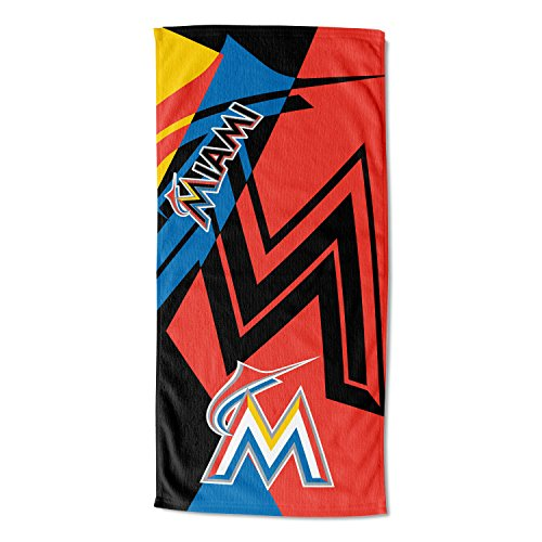 The Northwest Company Officially Licensed MLB Miami Marlins Puzzle Beach Towel, 34