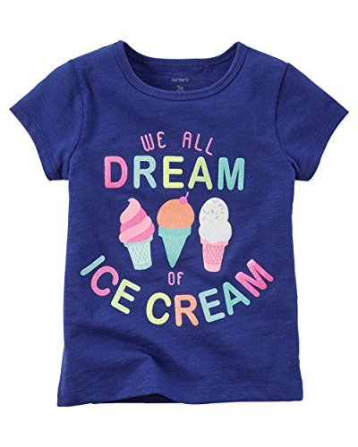 bbd76823bb Carters Baby Girls Ice Cream Dream Tee Blue 3M