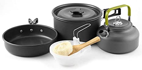 Juego De Utensilios De Cocina para Camping Mini Olla Y Juego ...