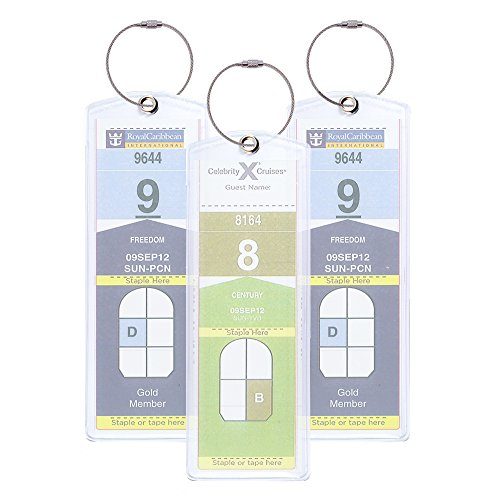 (Cruisetags, NARROW Cruise Ship Luggage Tags (Riveted 4 Pack))