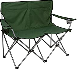 """Trademark Innovations 31.5""""H Loveseat Style Double Camp Chair with Steel Frame"""