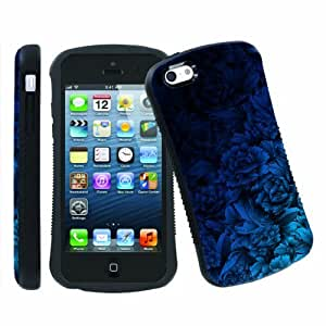 LJF phone case [ArmorXtreme] Apple ipod touch 5 Ultra Shock Absorbent Tough Designer Case [Peony Blue]