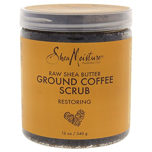 Shea Moisture Raw Butter Ground Coffee Scrub for Unisex, 12 Ounce