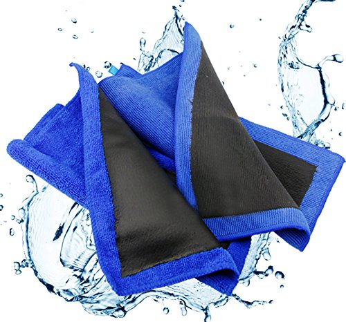 Tikteck Clay Towel, Fine Grade Microfiber Clay Bar Towel Clay Bar Cloth Towel Mitt Automotive Detailing Towel Wash Mitt Clay Bar Alternative for car detailing, Creative Gift-Blue,1 Pack