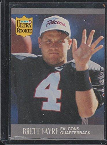 1991 Fleer Ultra Brett Favre Falcons Rookie Football Card #U-1