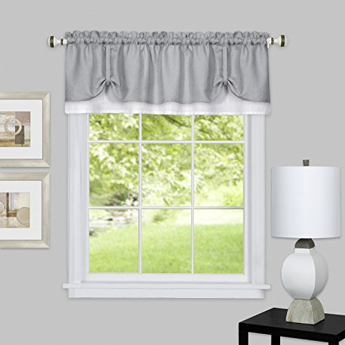 Achim Home Furnishings DRVL14GW12 Darcy Window Curtain Valance, 58