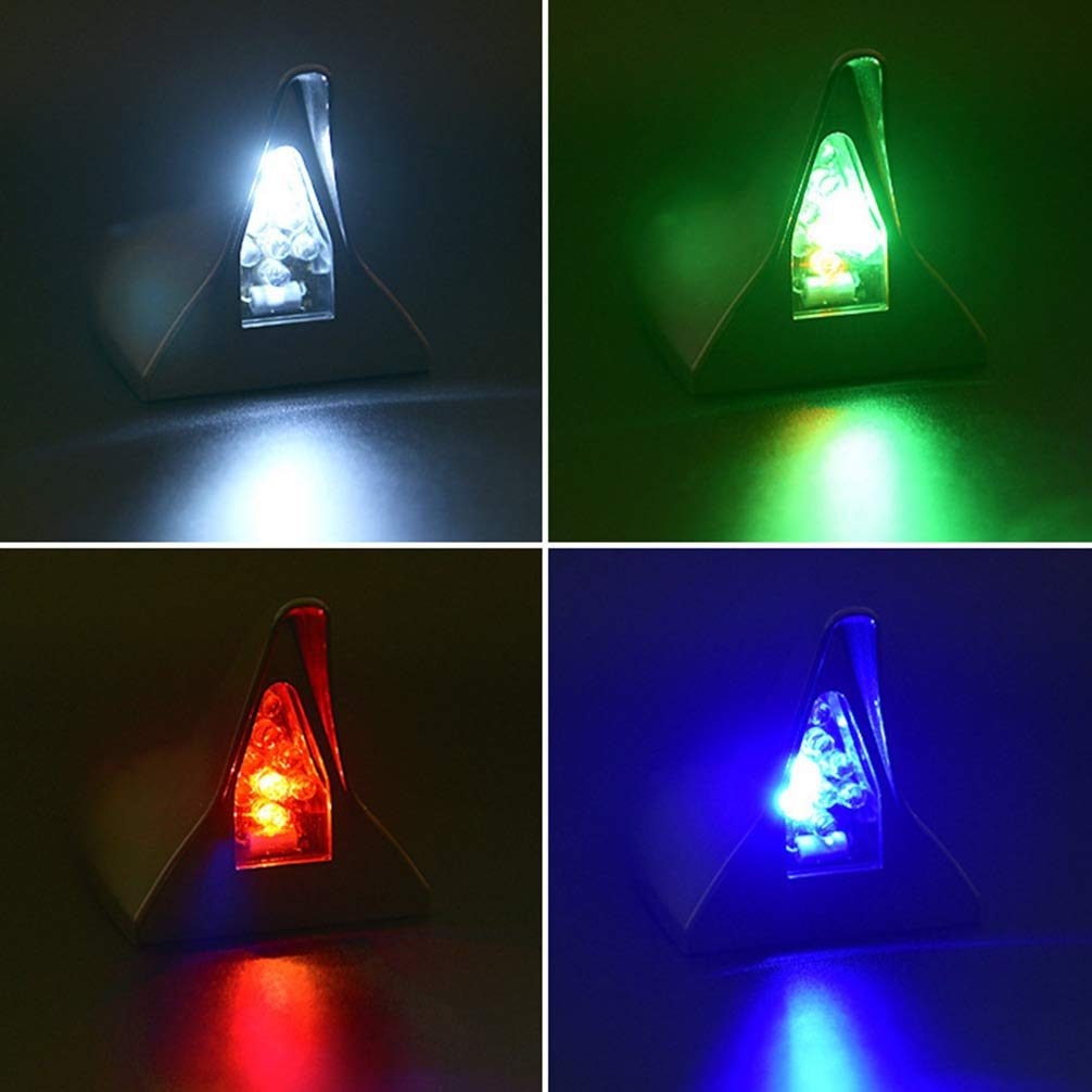 negro Wakauto Antena de aleta de tibur/ón para autom/óvil alimentada con energ/ía solar LED flash de advertencia luz estrobosc/ópica luz trasera LED luz de advertencia de flash luces traseras