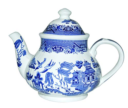 - Churchill Blue Willow Teapot 40-ounce