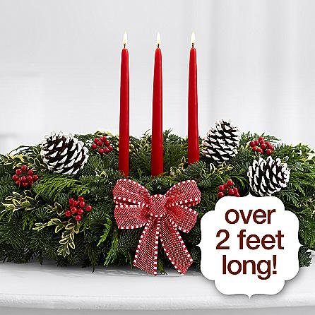 The Christmas Galleries Centerpiece - eshopclub Same Day Christmas Flower Delivery - Online Christmas Flowers - Christmas Flowers Centerpiece - Send Christmas Centerpiece by eshopclub