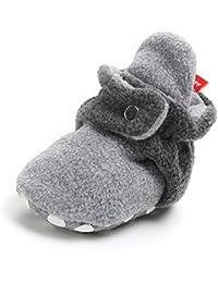 Baby Boys Girls Fleece Booties Non-Slip Bottom Winter...