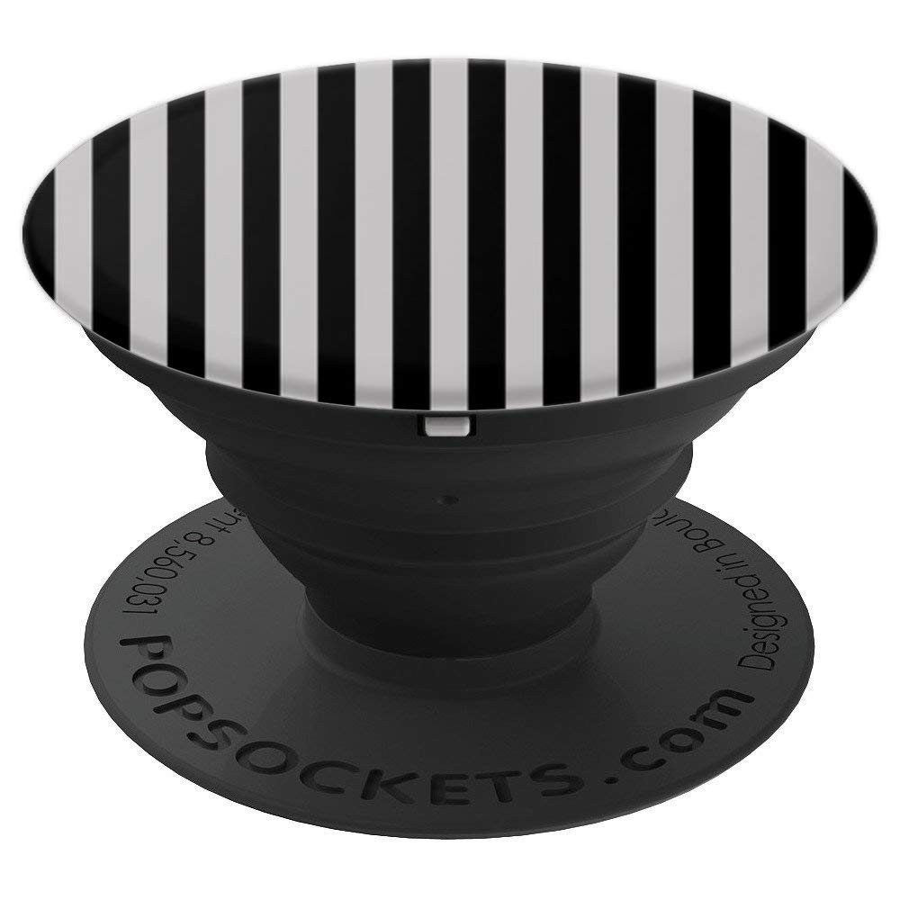 Beautiful White and Black Stripes - PopSockets Grip and Stand for Phones and Tablets by Airplanes and Travel Life