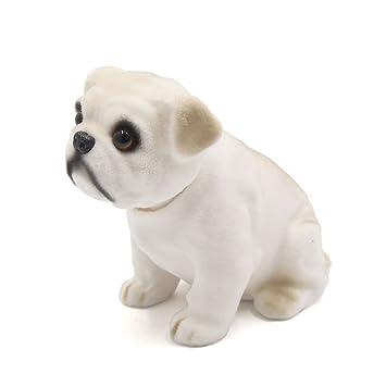 amazon com uxcell car dog shape nod nodding bobblehead dashboard