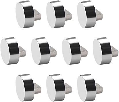 4 Pcs Mirror Clips Zinc Alloy Glass Clips Clamps Holder Round for 6-7mm