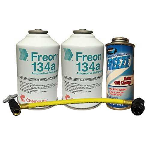 DuPont Quick Charge Kit 2 Cans R-134a Refrigerant, Oil Charge & Can Tap