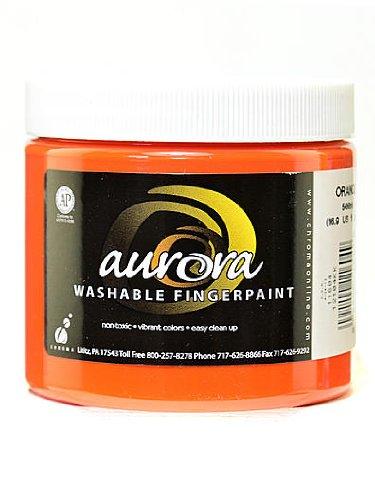 Chroma Inc. Aurora Washable Finger Paint orange [PACK OF 4 ]