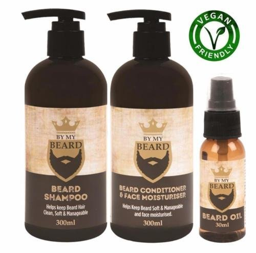 BE MY BEARD By My Beard Beard Shampoo/Conditioner And Face Moisturiser Oil Complete Triple Pack
