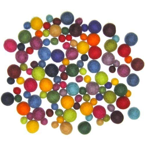 115 pcs Dimensions Crafts Assorted Wool Balls for Needle Felting