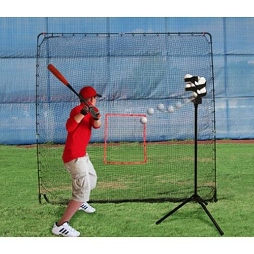 Heater Sports Big League Drop Toss Pitching Machine and Big Play Practice Net by Heater Sports