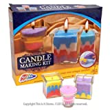 Grafix Candle Making Kit - Create Your Own Unique Candles (5 Bags of Colored Wax)