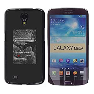 YOYOYO Smartphone Protección Defender Duro Negro Funda Imagen Diseño Carcasa Tapa Case Skin Cover Para Samsung Galaxy Mega 6.3 I9200 SGH-i527 - el amor del corazón de cotización lluvia cartel rojo manos
