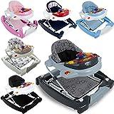 3IN1 Lauflernhilfe / Babyschaukel mit Spielcenter (12 Melodien) und Einlage (ELFENBEIN)