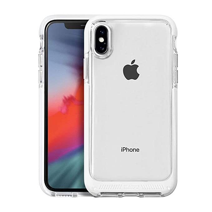 LAUT - Fluro Crystal for iPhone Xs/iPhone X | Drop Test Certified | Crystal  Clear | Durable (White)