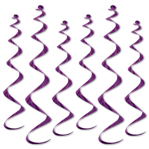 [Beistle 50065-PL 6-Pack Twirly Whirlys, 4 to 24-Inch and 2 to 36-Inch] (Party Decoration Items)