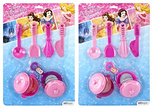 Kit Cozinha 8 Peças Princesas Etitoys Rosa/Roxo