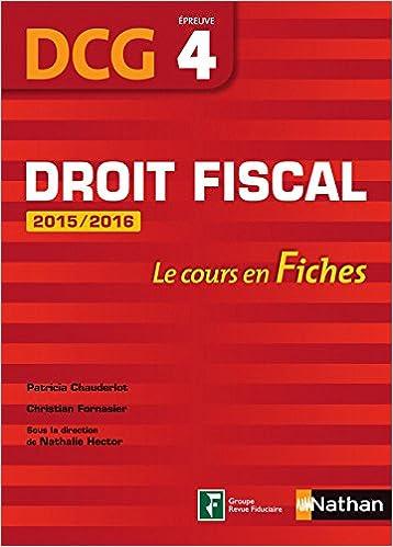 Lire un Droit fiscal 2015/2016 DCG pdf