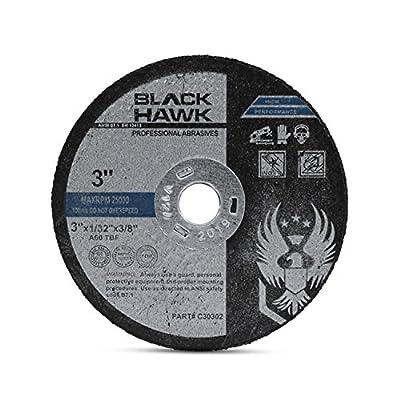 """25 Pack 3"""" x 1/32"""" x 3/8"""" Arbor Metal & Stainless Steel Cut Off Wheels - For Die Grinders"""