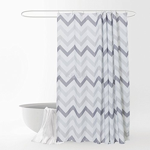 ZnzbztShower curtain cloth Nordic shower curtain kit from punch blackout curtains waterproof thickened bathroom mildew resistant window curtains, wide 210cm high 200cm to hooks