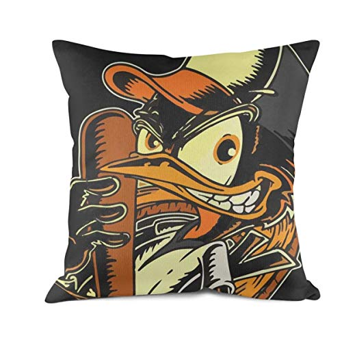 LIDAHFDBN Cool Baltimore Comic_Orioles Baseball Art Pillowcase Square Couch Throw Pillows Covers 18x18 Inch