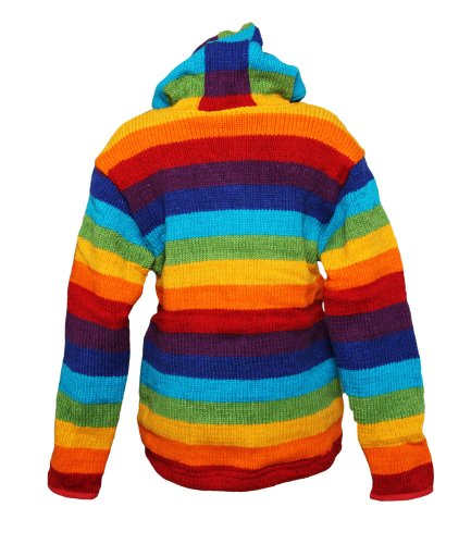 Co Pile Hippy giacca Clothing In The Colore Arcobaleno q1EwHXwxn