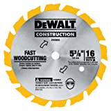 DEWALT DW9055 5-3/8-Inch 16 Tooth Series 20 Arbor Carbide Circular Saw Blade