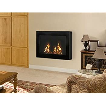 Amazon SEI Contemporary Wall Mount Gel Fuel Fireplace