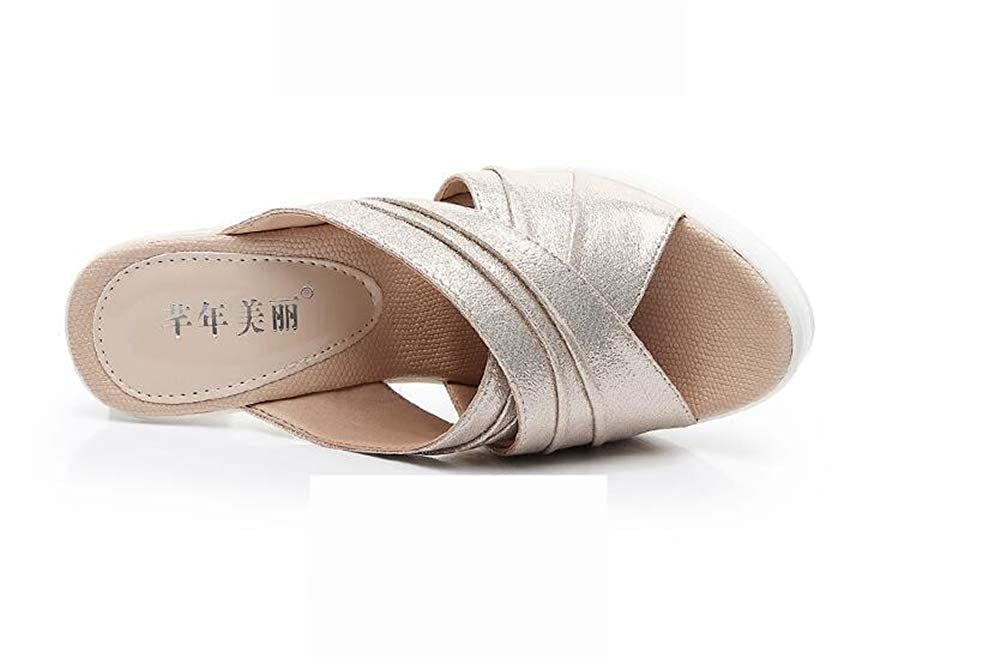Summer Womens Fish Mouth Slipper High Thin Heels Sandals Antiskid Toes Shoes
