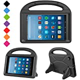 Kids Case for Fire HD 8- TIRIN Light Weight Shock Proof Handle Kid –Proof Cover Kids Case for Amazon Fire HD 8 Tablet (7th Generation, 2017 Release),Black
