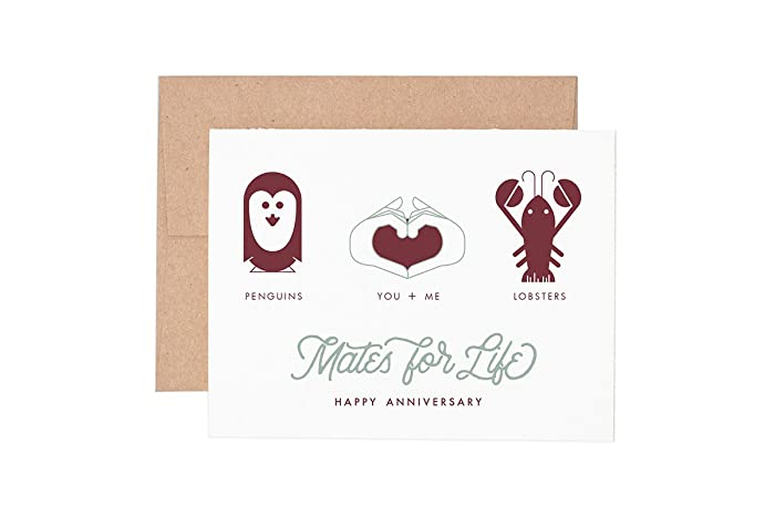 Amazon mates for life anniversary letterpress greeting card mates for life anniversary letterpress greeting card m4hsunfo