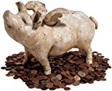 Antique Replica Heavy Cast Iron Flying Pig Sculpture Statue Bank Large