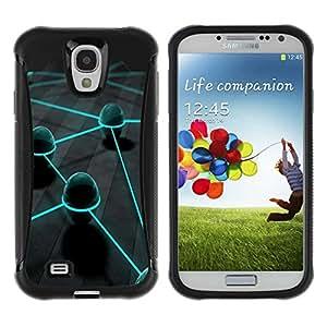 Planetar® ( Neon Eggs ) Samsung Galaxy S4 IV (I9500 / I9505 / I9505G) / SGH-i337 Hybrid Heavy Duty Shockproof TPU Fundas Cover Cubre Case