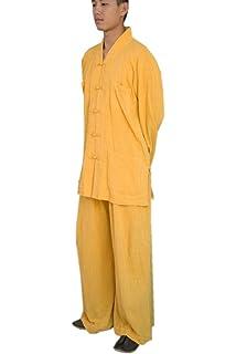 ae469603b39 KATUO Homme Moine Bouddhiste Religion Costume décontracté col en V Définit  M-XXL