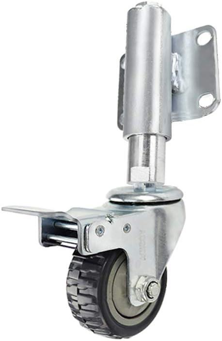 XiMige Ruota Universale a Molla Ammortizzatore in Acciaio zincato di Alta qualit/à Distanza Retrattile 30 mm Nero